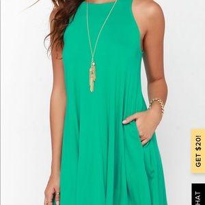 Lulu's Tupelo Honey Green Dress w/ Pockets